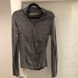 VSX Quarter Zip Athletic Top Grey